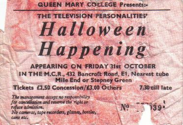 Queen Mary College ticket